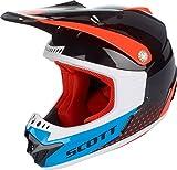 Scott 350 Pro Kinder MX Enduro Motorrad / Bike Helm schwarz/orange/blau 2018: Größe: M (50-51cm)