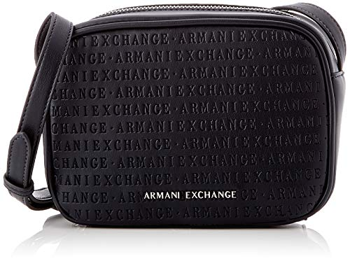 Armani Exchange Damen Small Crossbody Bag Umhängetasche Blau (Navy) 13x7x18.5 cm