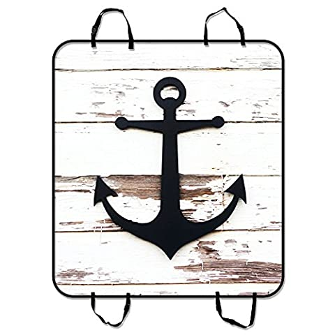 Custom Anchor On Faux Wood Pet Seat Cover Car Seat Cover for Pets Cargo Mats and Hammocks for Cars Trucks and SUVs 54x60 inches