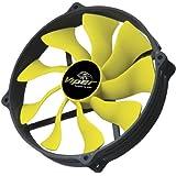 Akasa Viper R PWM Gehäuselüfter (140mm) schwarz/gelb - gut und günstig
