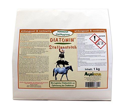 DIATOMIN Stallanstrich 1 kg - Innovativer Kalk-Kasein-Stallanstrich zusätzlich mit natürlicher Kieselgur zur Verbesserung der Hygiene und zur Bekämpfung von Schädlingen im Stall. (1 kg) - Körperflüssigkeit