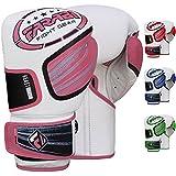 Farabi Beast Boxhandschuhe Fighter MMA Handschuhe Kampf Series, Käfig-Kampf, Muay Thai Sparring Training (Pink, 12-oz)
