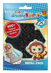 CRAZE- Cuentas de fusibles Fuse Beads Splash BEADYS Paquete de Recarga artesanales Negro Perla sin Calor Set 11751, Color