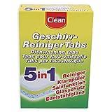 Geschirr Reinigertabs 5 in 1 / Elina CLEAN / Geschirrspülmaschinentabs / Spültabs / Spülmaschinentabs