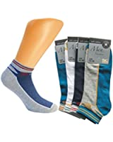 8 Paar Herren Sport Sneaker Socken blau weiß grau mehrfarbig aus feinster Baumwolle Soft Cotton / Füßlinge