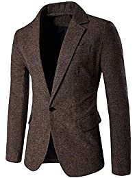 Longra-Uomo Blazer Slim Fit Uomo Casual One Button Elegante Vestito di  Affari Cappotto Giacca ed324b0b5b3