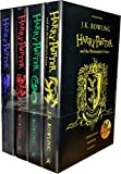 Harry Potter and the Philosopher's Stone 4 Books Collection Set by J.K. Rowling (Slytherin, Ravenclaw, Gryffindor, Hufflepuff)