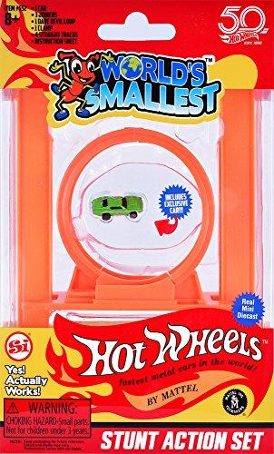 Worlds smallest Super Impulse - Las Hot Wheels más pequeñas del mundo - Stunt Action Set - Incluye 1 auto exclusivo