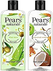Pears Naturale Detoxifying Aloevera Bodywash, 250 ml & Pears Naturale Nourishing Coconut Water Bodywash, 250 ml