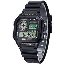 Casio AE-1200WH-1B - Reloj digital de cuarzo para hombre, correa de resina color negro