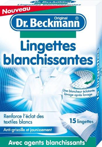 Dr Beckmann Lingettes Blanchissantes 15 Lingettes - Lot de 3