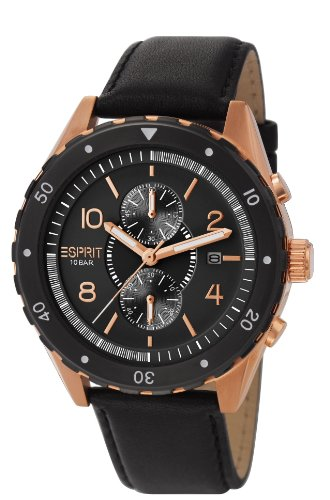 esprit-alamo-mens-quartz-watch-with-black-dial-analogue-display-and-brown-leather-strap-es105551003