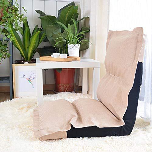 SXFYZCY Boden Stuhl Tragbare Faltbare Chaise Lounge Sofa Einzel Meditationsstuhl Wohnzimmer Schlafzimmer Verstellbares Bett Faule Tatami Mat,B,127x52x24cm (Chaise Lounge-sofa-bett)