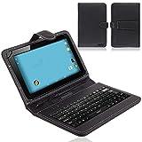 Schutz-Hülle Keyboard-Case Deutsche Tablet-Tastatur Tasche für Tolino Tab 8 USB