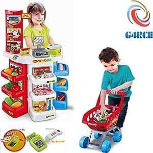 a1db8011722f G4RCE® Kids Large Super Store Supermarket Market Stall Pretend Play ...