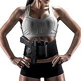 LEOSO, cintura elastica regolabile con fondina per pistole e rivoltelle, da indossare nascosta attorno alla vita, per uomini e donne