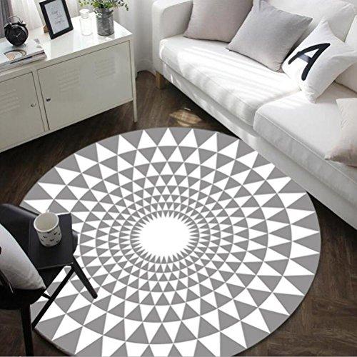 Alfombra redonda estilo triángulo nórdico , gray , 100cm