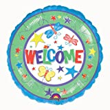 PARTY DISCOUNT ® Folien-Ballon Welcome - Willkommen, ca. 45cm