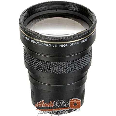 Raynox HD-2200PRO-LE lente de cámara - Objetivo (Camcorder, 2/4, Telephoto, SONY DCR-DVD301/201/101, Negro, 7,6