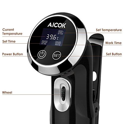 Aicok Sous Vide Garer – Quickstick Sous Vide Stick – Sous Vide Präzisionskochtopf Immersion Zirkulator - 2