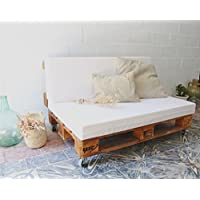 REMAKED Sofa Palet 120X95 Barniz (Incluye Ruedas y Colchonetas)