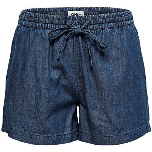 ONLY Damen onlPEMA DNM Box Shorts, Blau Medium Blue Denim, W(Herstellergröße: M)