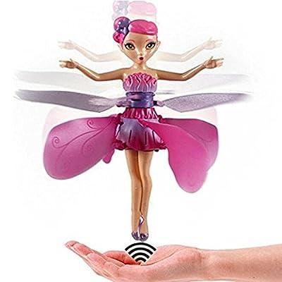 MMilelo RC Fliegender Ball Fliegende Spielzeug Fliegende Infrarot Induktionssteuerung Flying Toy Flying Puppe Interaktives Spielzeug Geschenk für Kinder und Erwachsene mit USB Charging Station
