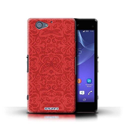 Kobalt® Imprimé Etui / Coque pour Sony Xperia A2 / Noir / Blanc conception / Série Motif médaillon Rouge