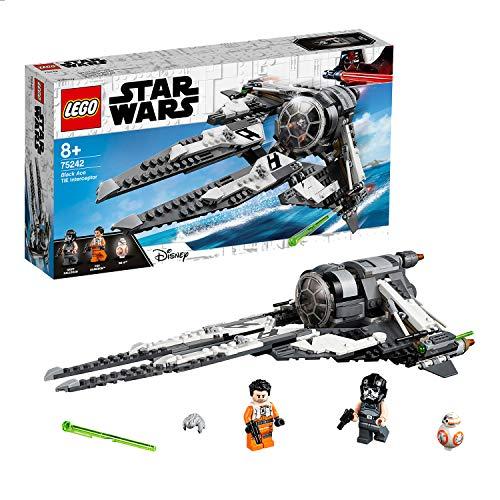 LEGOStarWars 75242 - Resistance TieInterceptormit Allianz-Pilot, Spielzeug