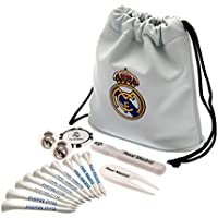Real Madrid Official Licensed - Set de Regalo de Golf, Color Blanco