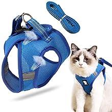 Sunshine smile Escape Proof Cat Harness,small cat harness,cat harness,cat harness and lead set, Escape-Proof Cat Kitten Harness,cat harness and lead set escape proof (C, L)