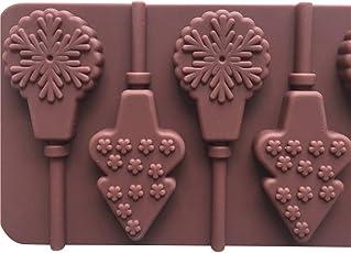 EFINNY 3D Silikon Weihnachten Backform Set DIY 6/12 Tasse Antihaft Dekorieren Schokolade Cupcake Mold