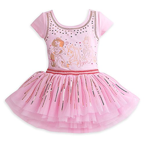 Disney Princess Leotard and Tutu Set for Girls Size 5/6 Pink (Disney Princess Tutu Kleid)