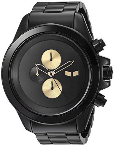 Vestal Men's 'ZR3 Minimalist' Quartz Stainless Steel Dress Watch, Color Black (Model: ZR3036)