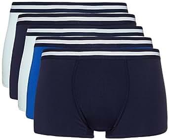 FIND Boxer Uomo, Pacco da 5, Multicolore (Navy X2, Wash Blue X2, Royal X1), Medium,, Pacco da 5