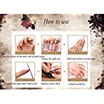 QCBC Full Nail Toes Stickers,Gradient color Style 20 Decals/sheet (Pack of 2 Sheets) 11