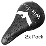 WizMove Waterproof Bike Seat Cover | Impermeable Bicycle Saddle Protection Cover, 2x Pack
