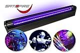 Schwarzlicht LED-UV-Röhre 60cm Komplettset