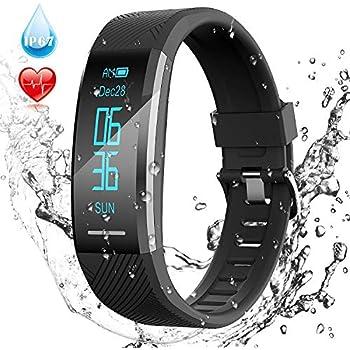 Pulsera de Actividad Inteligente Impermeable IP67, AGPTEK Reloj Deportivo con GPS Podómetro, Monitor de Ritmo, Calorías, Sueño Notificación etc para Hombre ...