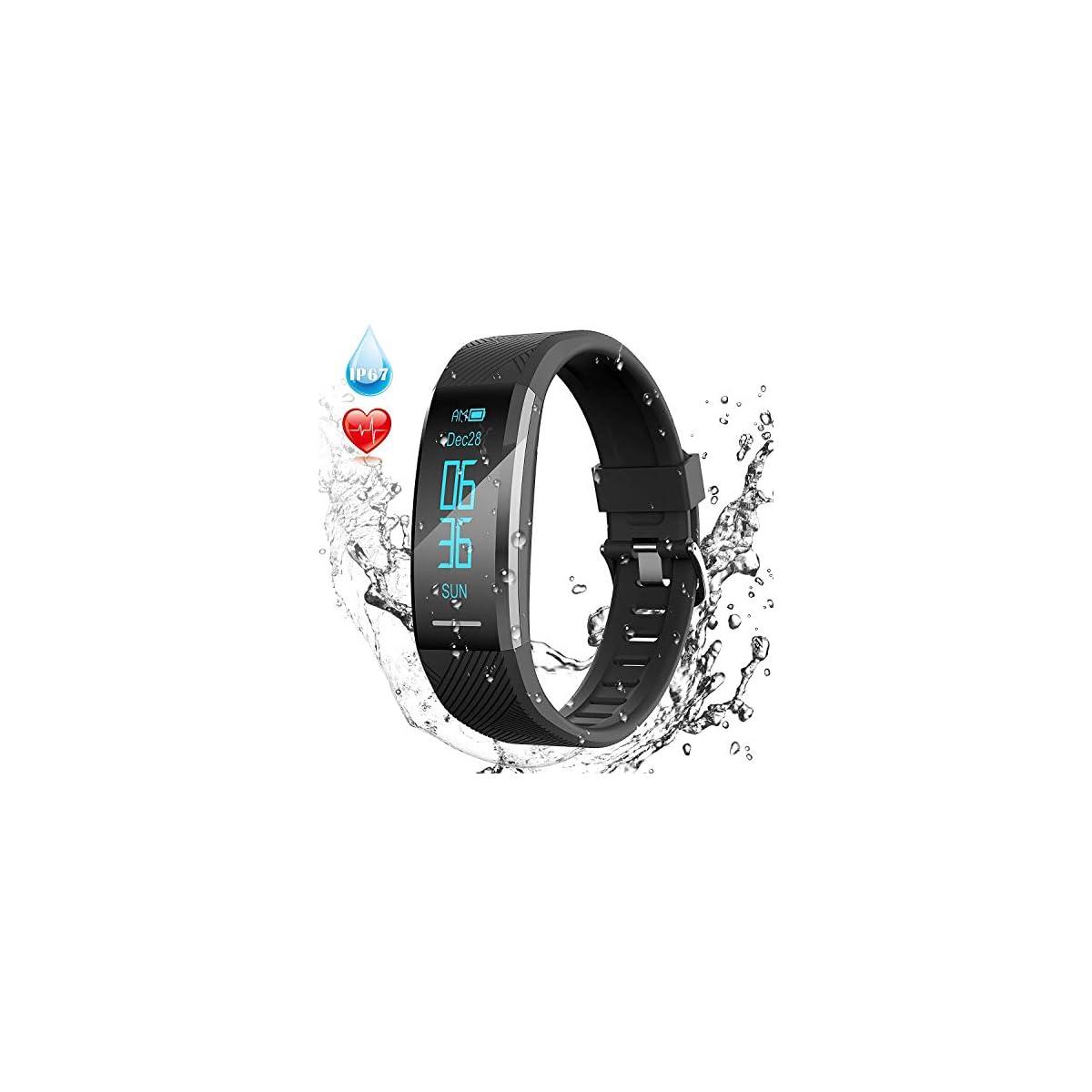 51WFB1pVO0L. SS1200  - Pulsera de Actividad Inteligente Impermeable IP67, AGPTEK Reloj Deportivo con GPS Podómetro, Monitor de Ritmo, Calorías, Sueño Notificación etc para Hombre Mujer Niños