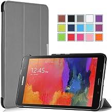 Moko Samsung Galaxy Tab PRO 8.4 Funda - Ultra Slim Ligera Smart-shell Funda para Samsung Galaxy Tab PRO 8.4 (SM-T320N) Android Tableta, GRIS (Con Cierre Magnético Para Reposo Automático)