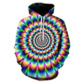 Herren Pullover Digitaldruck Kapuzenpullover 3D Bedruckte Tops Hoodie Swearshirt Langarm Hooded Pullover T-Shirt Colourful Sweatshirt