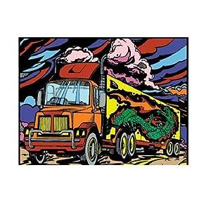 Colorvelvet Dibujo para Colorear «Truck&Raquo, 47x 35cm