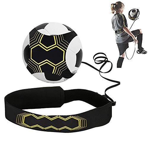TiooDre Fußball-Trainingsgürtel, Elastikband Adjustable Solo Gürtel Fußball Treten Praxis Trainer Fußball-Trainingswerkzeug für Kind Erwachsene -