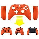 eXtremeRate Schutzhülle Soft Touch Obere Case Hülle Cover Schale Gehäuse mit 2 Seitenteilen für Xbox One S/Xbox One X Controller(Orange)