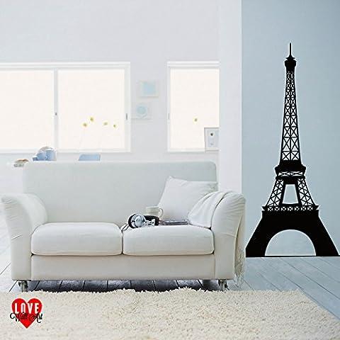 Sticker mural Motif Tour Eiffel Paris France, rose, Small