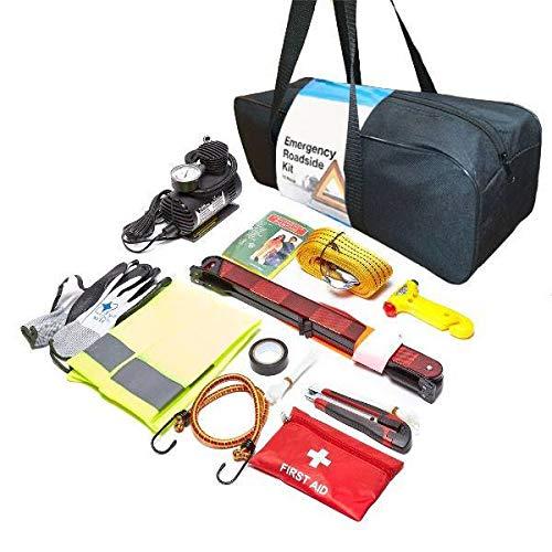 Preisvergleich Produktbild Porum 13-in-1 Auto Caravan Fahrzeug Notfall-Pannenset,  multifunktionales Sicherheits-Werkzeug-Set,  Essential Travel Kit + Erste Hilfe Kit für Alfa Romeo 147