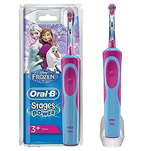 Oral-B Stages Power Kids Elektrische Zahnbürste mit Figuren aus Die Eiskönigin– Völlig unverfroren