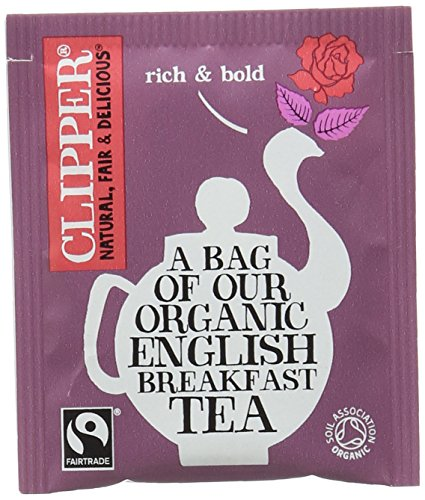A photograph of Clipper organic english breakfast