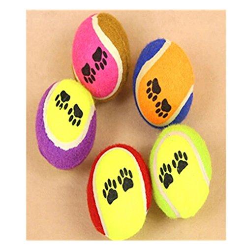 Spritech (TM Hund Fußabdruck Bälle Hundespielzeug medium Farben variieren 5Bälle -